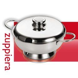 Ambra levesestál Fedővel 26 cm