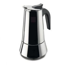 Rozsdamentes  kávéfőző (4 személyes) kék nyéllel