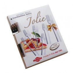 Jolie 6 db  süteményes villa tükörfényes nemesacélból