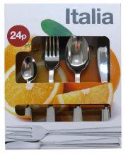 Italia 24 db-os evőeszköz készlet , színes papírdobozban