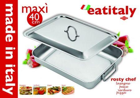 Eat Italy Tepsi + Fedő 40 cm