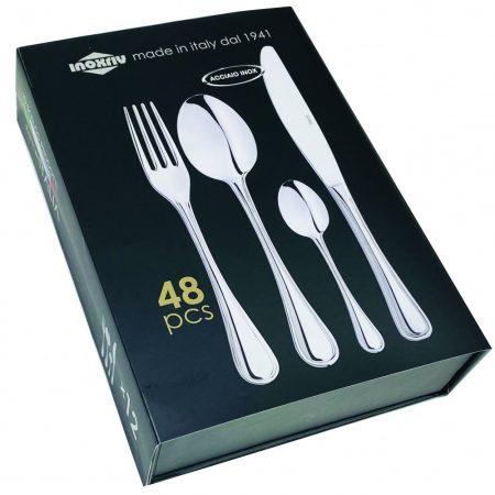 ELEGANCE 48 darabos evőeszközkészlet szétnyitható dobozban
